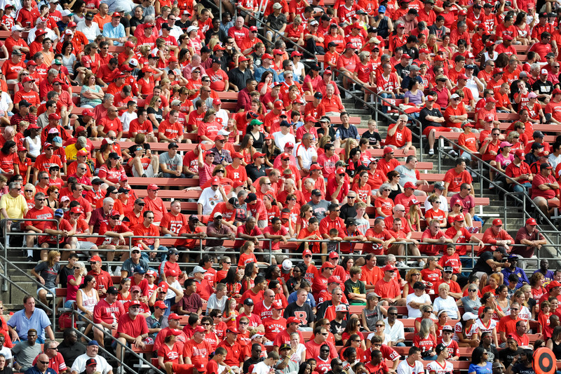 High Point Solutions Stadium was a sea of red shirts during the first half of Rutgers' 26-0 victory over Howard.