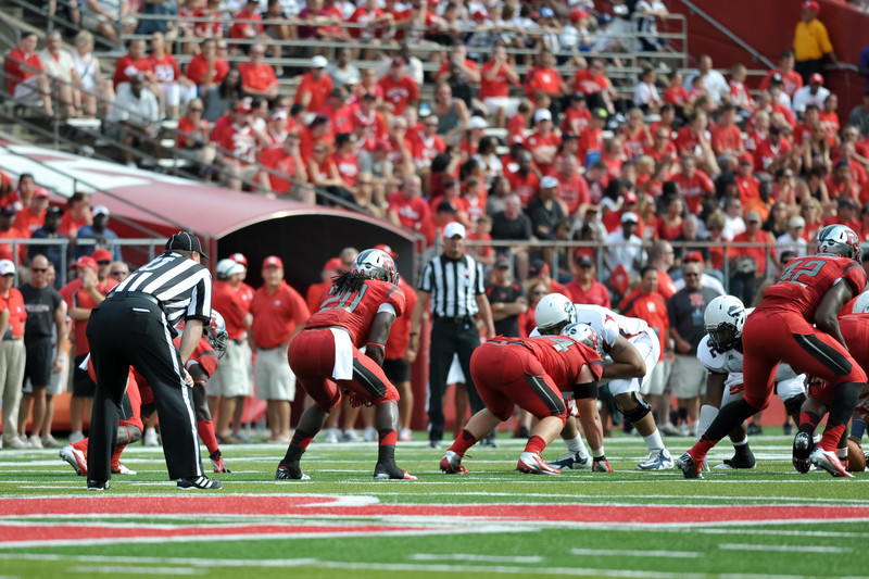 Rutgers' Quarterback, GARY NOVA (15), attempts a pass in the first half of Rutgers 26-0 victory over Howard.