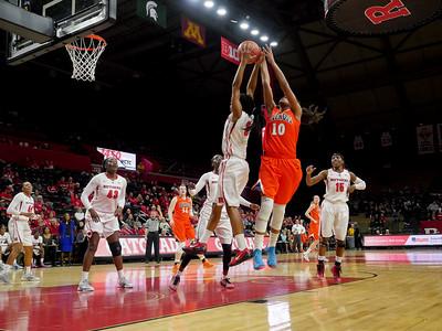 NCAAW Basketball 2015 - Rutgers Defeats Illinois