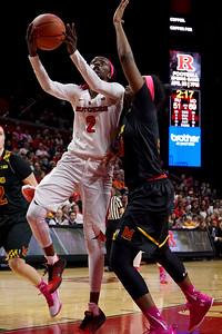 NCAAW Basketball 2016 - Maryland Defeats Rutgers 73-59