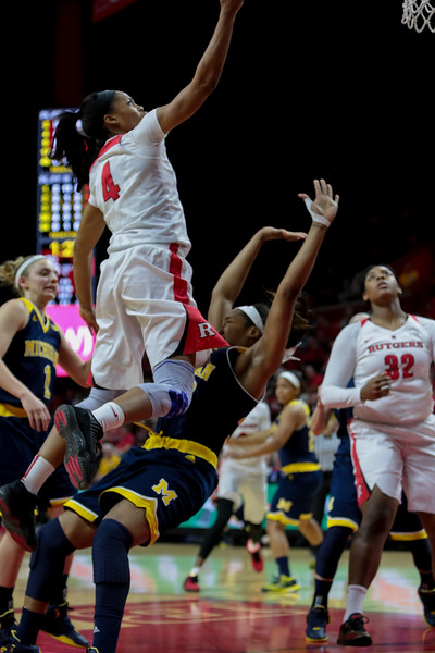 NCAAW Basketball 2016 - Michigan at Rutgers 2/28/2016