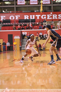 Rutgers guard, SHAKEENAH RICHARDSON (24), looks to drive to the basket against La Salle University in a game at the Rutgers Athletic Center in Piscataway, New Jersey.