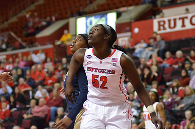 Rutgers forward, CHELSEY LEE (50), battles for position in the post against Pittsburgh in a game at the Rutgers Athletic Center in Piscataway, New Jersey.