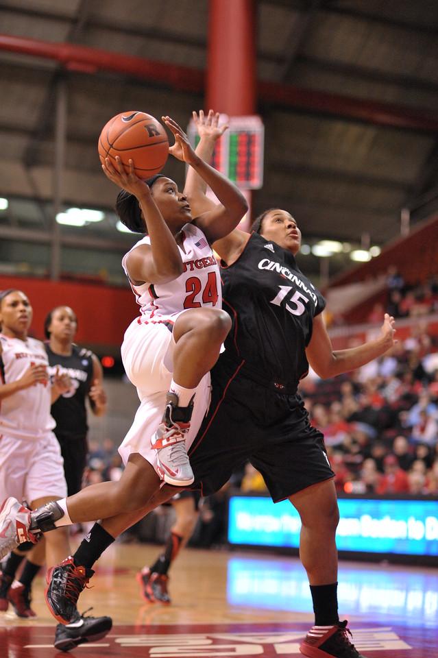 NCAAW Basketball 2013 - Cincinnati University at Rutgers 02/09/2013