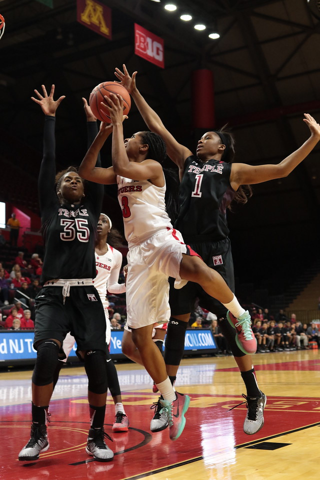 NCAAW Basketball 2015- Temple Visits Rutgers 11/22/2015