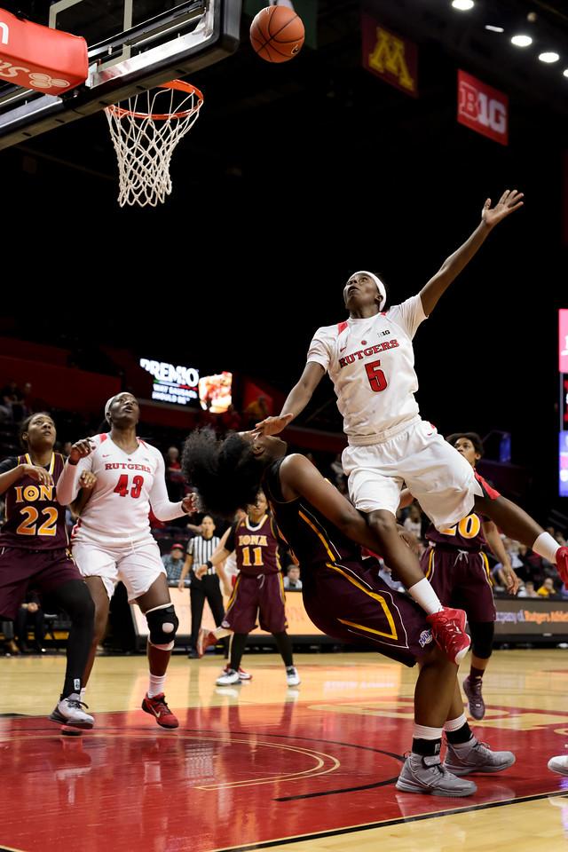 NCAAW Basketball 2015 - Iona at Rutgers 12/09/2015