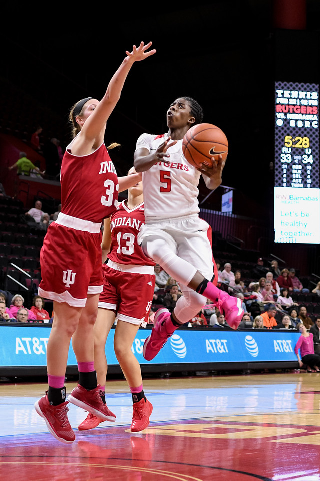 NCAAW Basketball 2017 - Indiana at Rutgers 02/08/2017