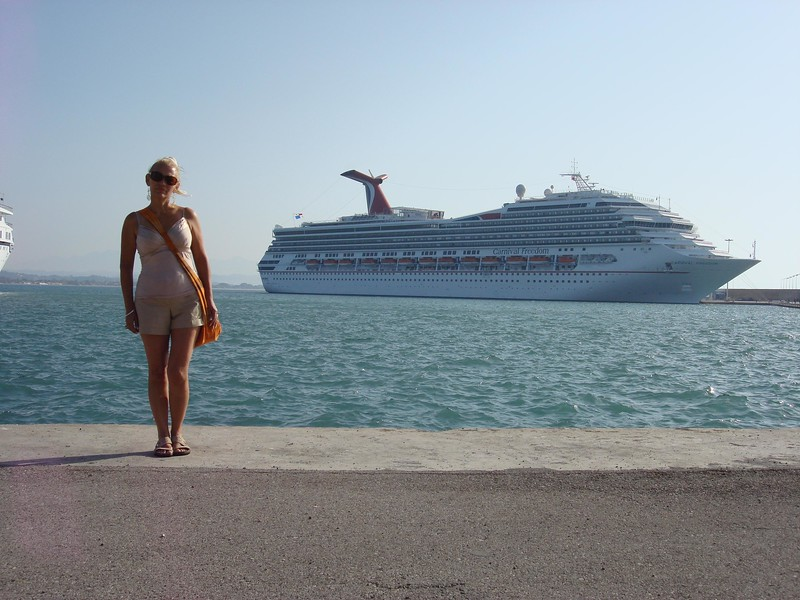 In front of the carnival Freedom - Katakolo, Greece 2007