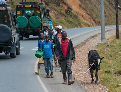 Our safari trucks passed pedestrians every 100 feet