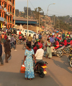 Kigali street scene is constant and ubiquitous chaos