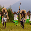 Africa. Rwanda.Traditional Intore dancers near Volcanoes NP, site of the largest remaining group of mountain gorillas in the world.