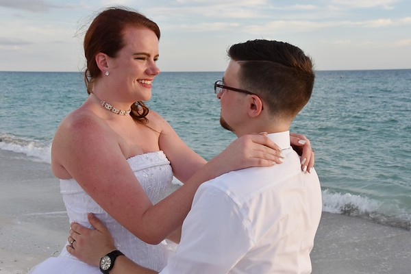 Beautiful small wedding at Anna Maria Island, FL