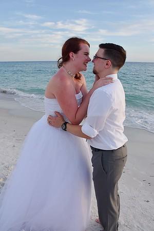 Beautiful small wedding at Anna Maria Island, FL