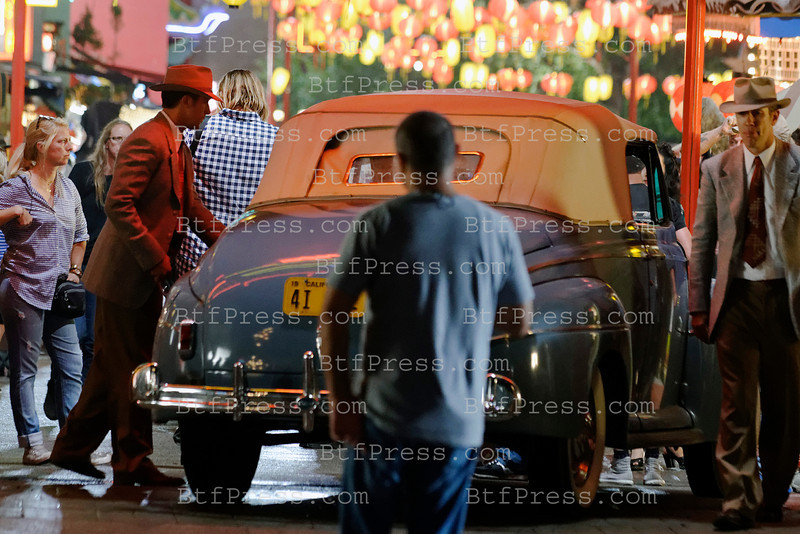 Ryan Gesling during the set of Gangster Squad in Chinatown Los Angeles