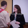 Jen Benson giving Ryan his citation from the US government