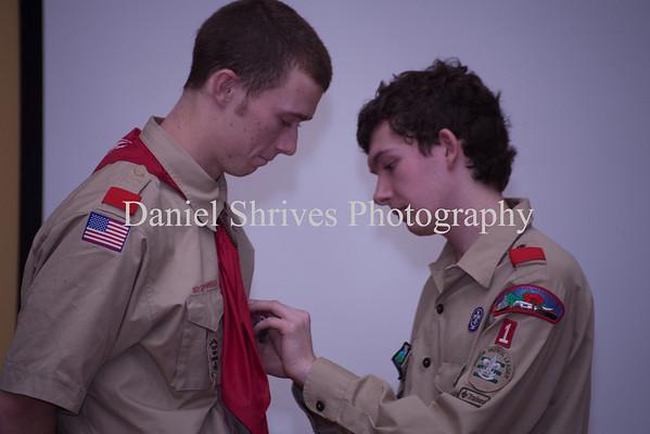 Dana Cochrane giving Ryan his Eagle Pin
