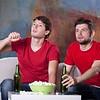 Men friends' home cinema