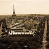 Paris from The Arc de Triumph