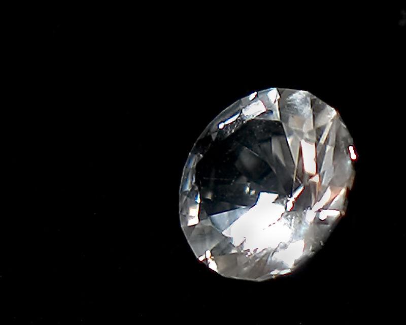 Faceted quartz (brilliant cut).