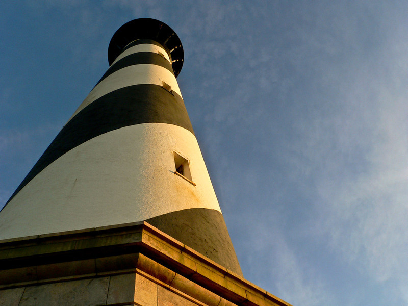 Hatteras Lighthouse in the evening light.
