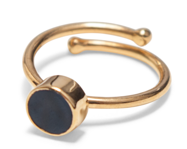 Swedish Grace Golden Midnatt ring