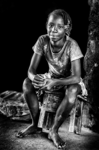 Sao Tome girl, Neves, STP
