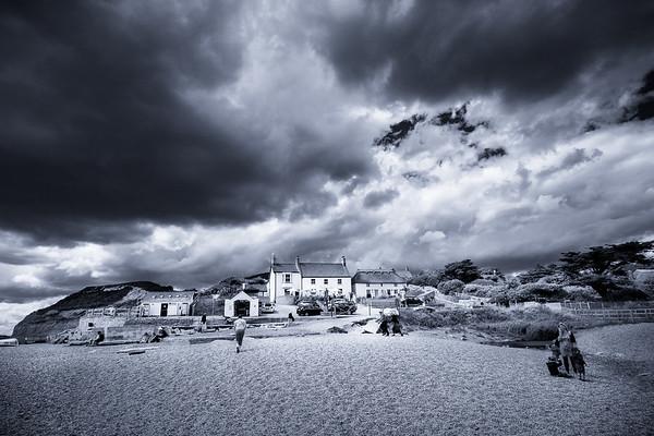 Plage de Seatown, près de Chidoeck, Dorset, Angleterre