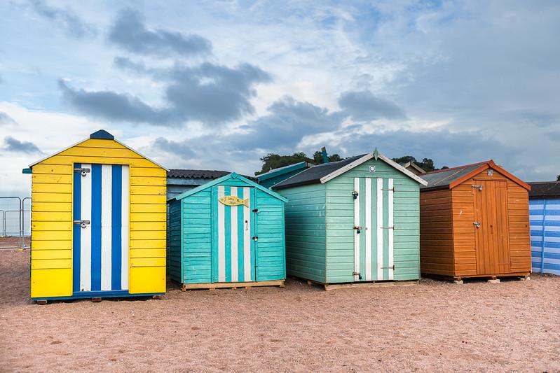 Les cabines de plage de Teignemouth