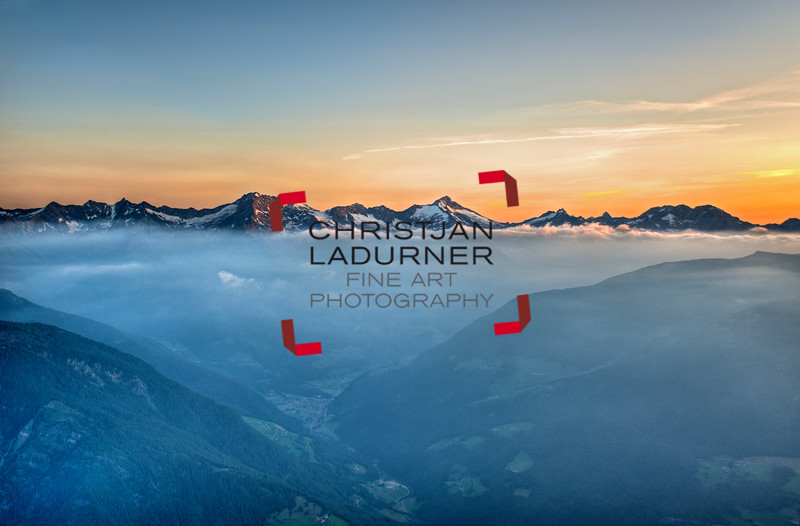 Ahrntal mit Zillertaler Alpen