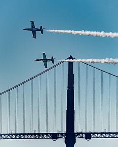 Breitling Aviation Team Passing the Golden Gate Bridge