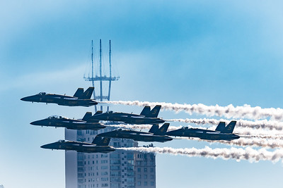 Blue Angels with San Francisco Building