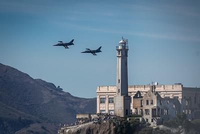 Breitling Aviation Team Passing Alcatraz