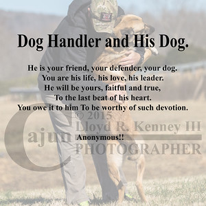 SHOOTER - A twelve month old Belgian Malinois and his Best Friend!!