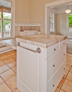 kitchen island detail
