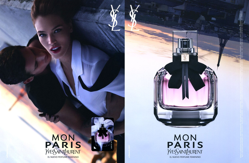 YVES SAINT LAURENT Mon Paris 2016 Spain (recto-verso with scent sticker) 'El nuevo perfume femenino'