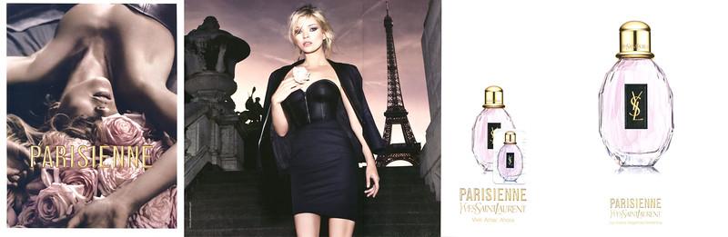 YVES SAINT LAURENT Parisienne 2010 Spain (4-page foldout with scent sticker) 'Vivir - Amar - Ahora - La nueva fragancia femenina'