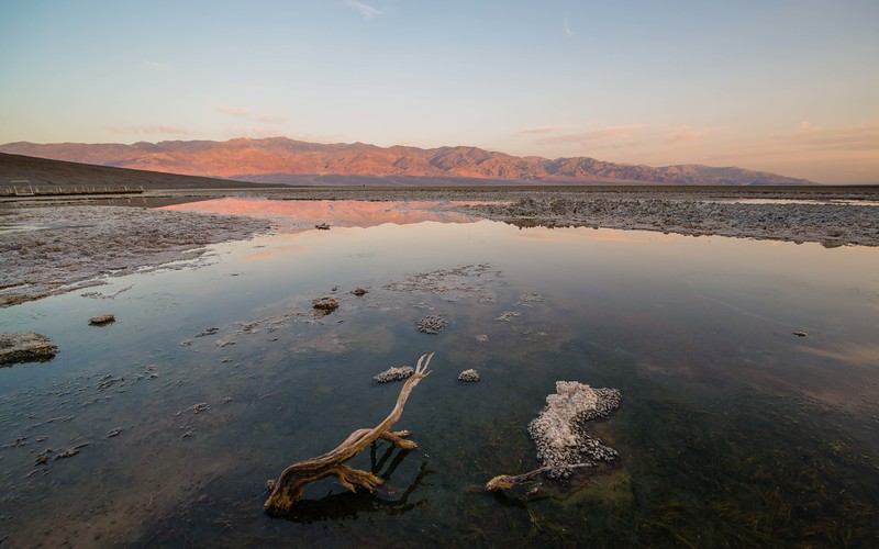 First Light Illuminates Badwater