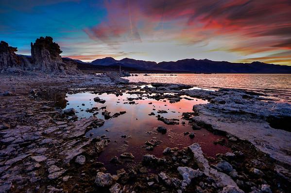 Sunset on the Mono Lake Tufas