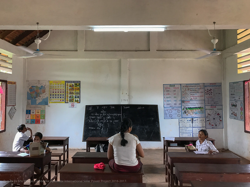 Solar Power Project Cambodian School
