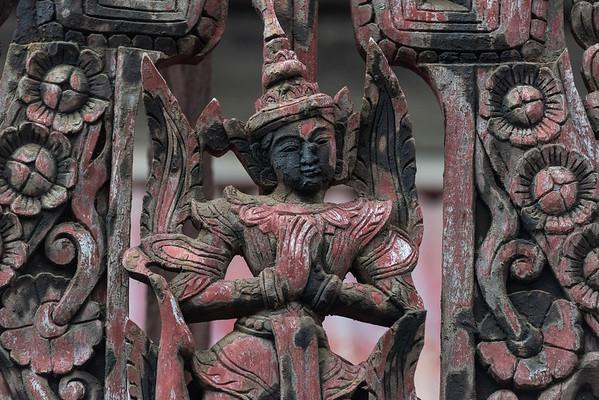 Wood Carving at Yoke Sone Monastery