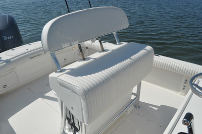 S248432-Helm Seat Lean Post w/Space for a Cooler and Backrest and Rod Holders