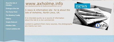An information site about the Isle of Axholme, North Lincs, UK.