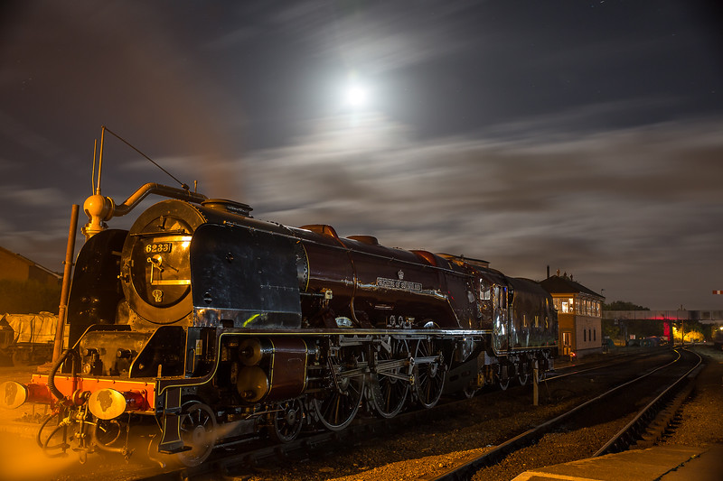 Severn Valley Railway steams into the night at its Autumn Gala event, Kidderminster, UK