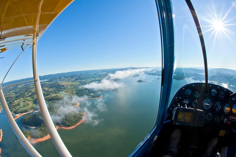 Early morning flight over Cherokee Lake