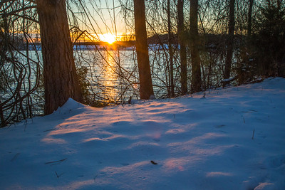 Snow covered Lake Brandt at sunset on 1/8/17.