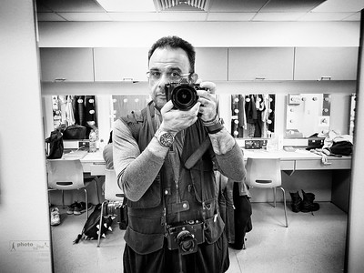 A self portrait in the dressing room. The Royal College of Music International Opera School presents Janáček: The Cunning Little Vixen. Royal College of Music, Britten Theatre, Prince Consort Road, London, UK. December 01, 2017. Photo: Edmond Terakopian