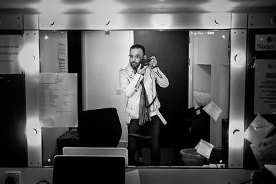 A self portrait in a dressing room mirror at the Cambridge Arts Theatre. Cambridge, Cambridgeshire, UK. September 06, 2017. Photo: Edmond Terakopian