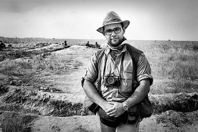 Edmond Terakopian on the front line in Martakert, Karabakh. August 1994. Photo: Hagop Berberian
