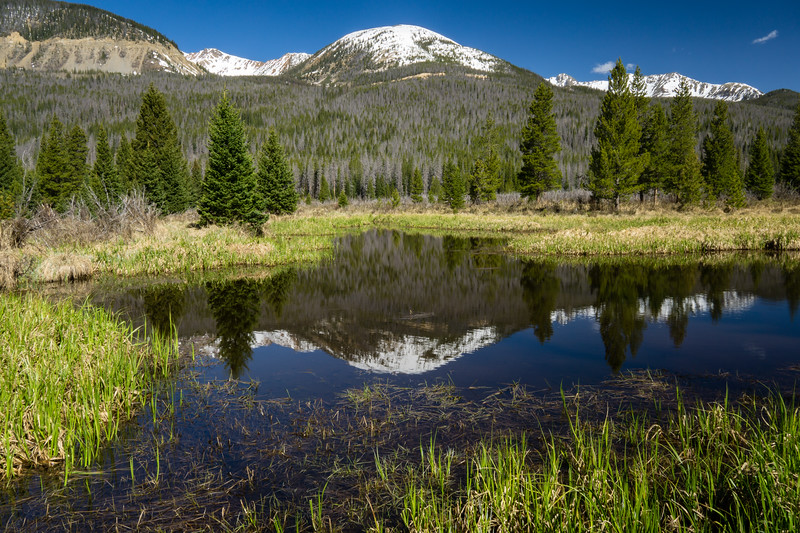 Reflection in Rocky Mountain National Park