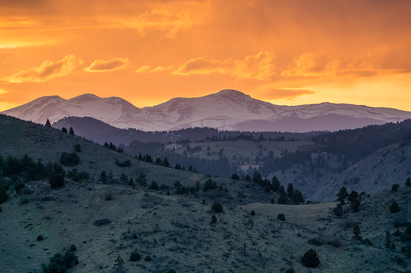 Sunset Over The Rockies